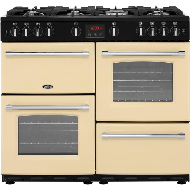Belling Farmhouse100G 100cm Gas Range Cooker - Cream - A/A Rated - Farmhouse100G_CR - 1