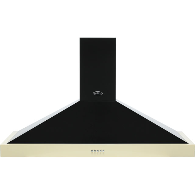 Belling FARMHOUSE 110 CHIM 110 cm Chimney Cooker Hood - Cream - D Rated - FARMHOUSE 110 CHIM_CR - 1