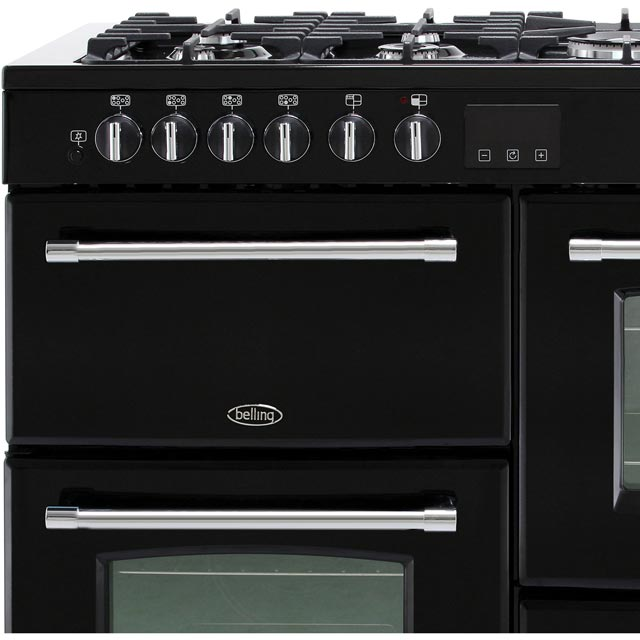 Belling Farmhouse110DF 110cm Dual Fuel Range Cooker - Black - Farmhouse110DF_BK - 2
