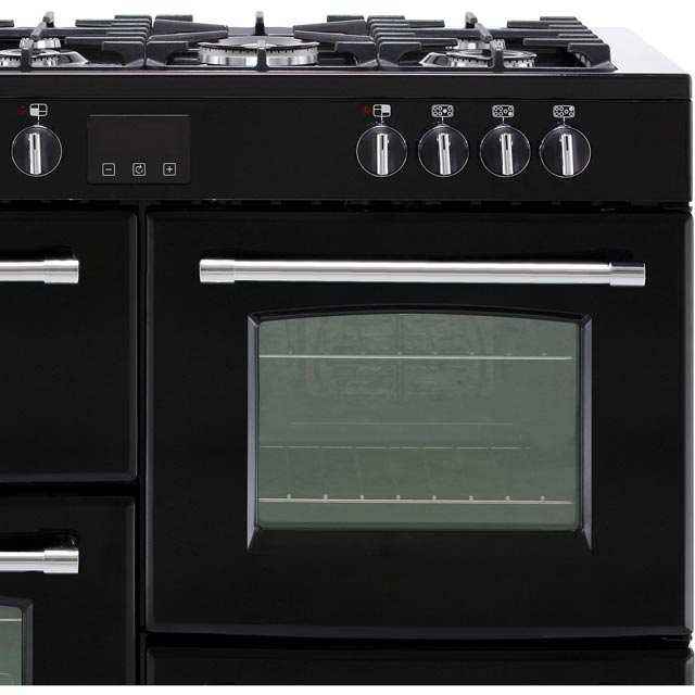 Belling Farmhouse110DF 110cm Dual Fuel Range Cooker - Black - Farmhouse110DF_BK - 3
