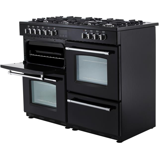Belling Farmhouse110DF 110cm Dual Fuel Range Cooker - Black - Farmhouse110DF_BK - 4