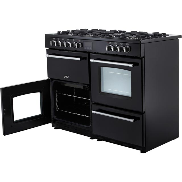 Belling Farmhouse110DF 110cm Dual Fuel Range Cooker - Black - Farmhouse110DF_BK - 5
