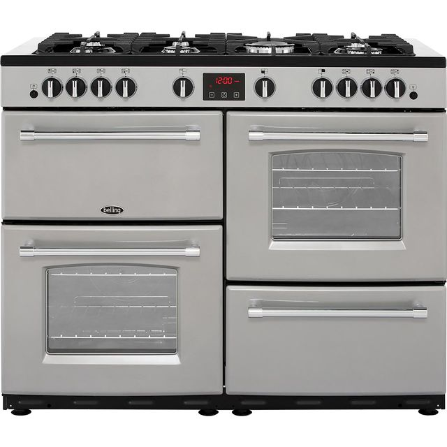 Belling Farmhouse110GT 110cm Gas Range Cooker - Silver - A/A Rated - Farmhouse110GT_SI - 1