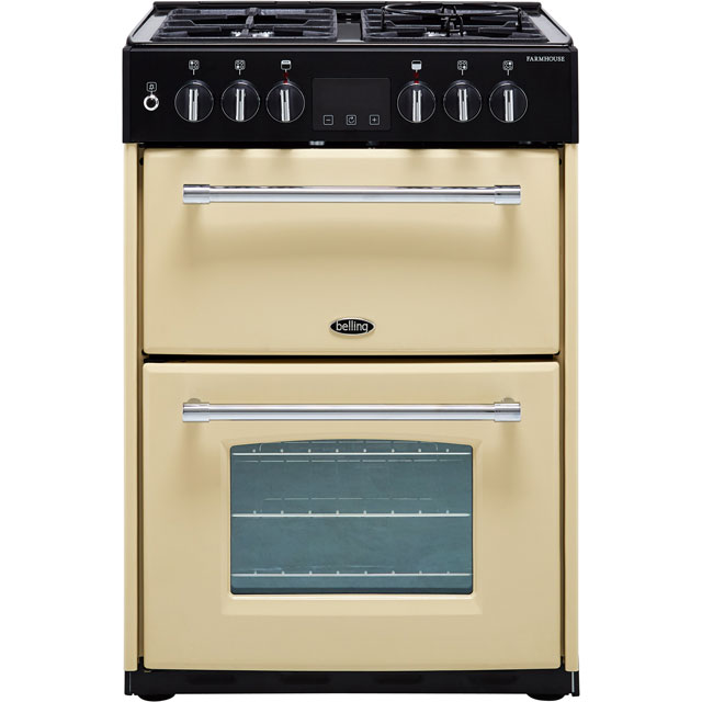 Belling Farmhouse60DF 60cm Dual Fuel Cooker - Cream - A/A Rated - Farmhouse60DF_CR - 1