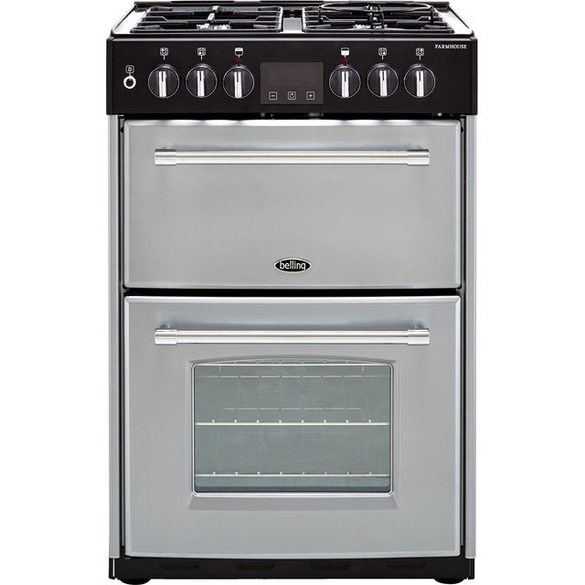 Belling Farmhouse60DF Dual Fuel Cooker - Silver - Farmhouse60DF_SI - 1