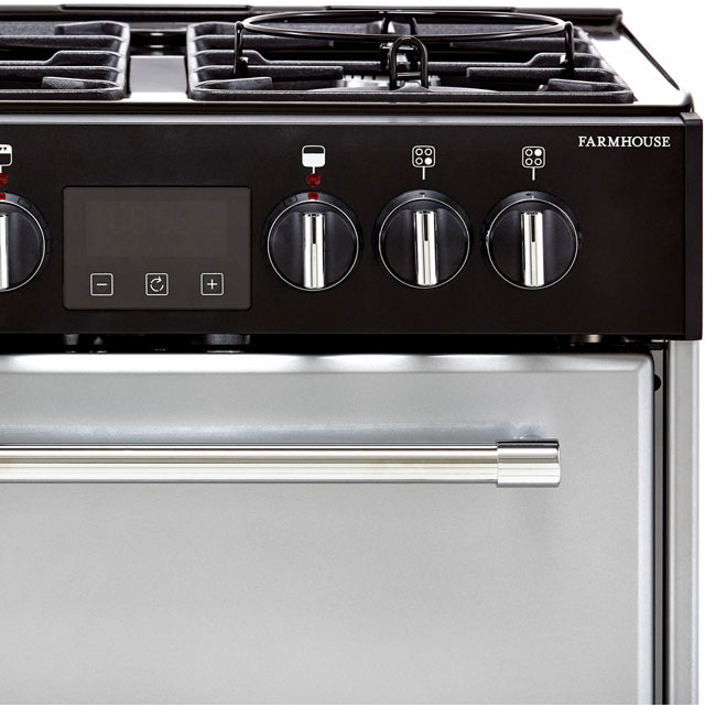 Belling Farmhouse60DF Dual Fuel Cooker - Silver - Farmhouse60DF_SI - 3