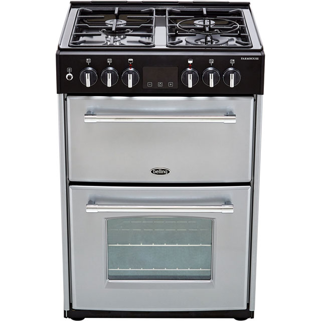 Belling Farmhouse60DF Dual Fuel Cooker - Silver - Farmhouse60DF_SI - 4