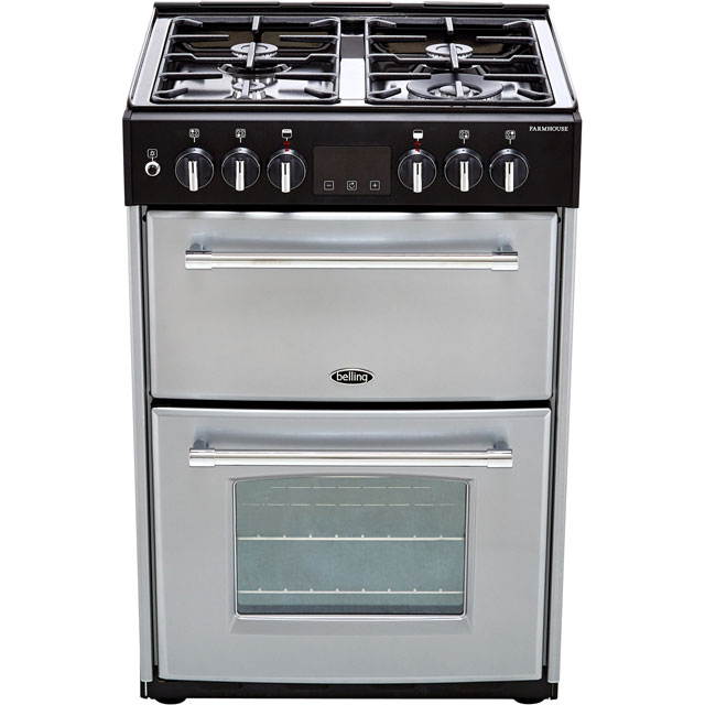 Belling Farmhouse60DF Dual Fuel Cooker - Silver - Farmhouse60DF_SI - 5