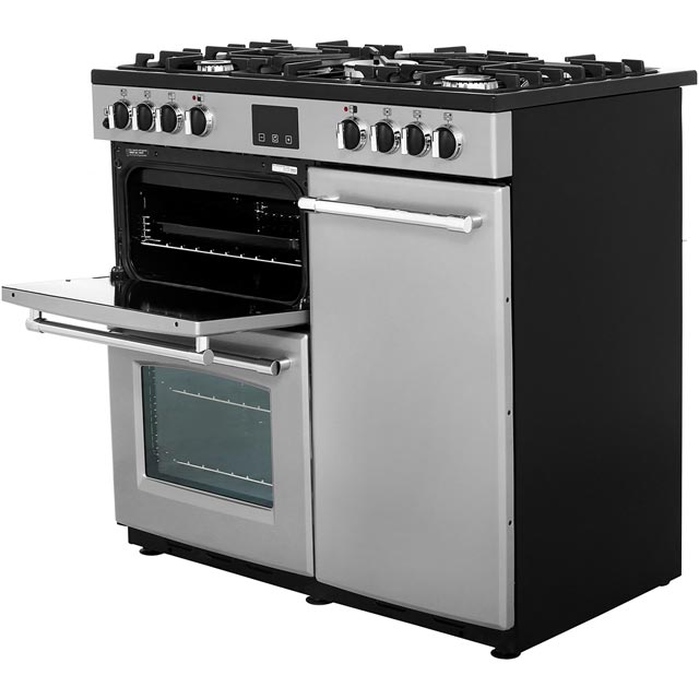 Belling Farmhouse90DFT 90cm Dual Fuel Range Cooker - Black - Farmhouse90DFT_BK - 4