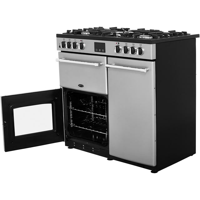 Belling Farmhouse90DFT Dual Fuel Range Cooker - Black - Farmhouse90DFT_BK - 5