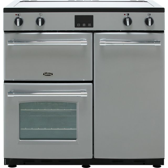 Belling Farmhouse90Ei 90cm Electric Range Cooker with Induction Hob - Silver - A/A Rated - Farmhouse90Ei_Si - 1