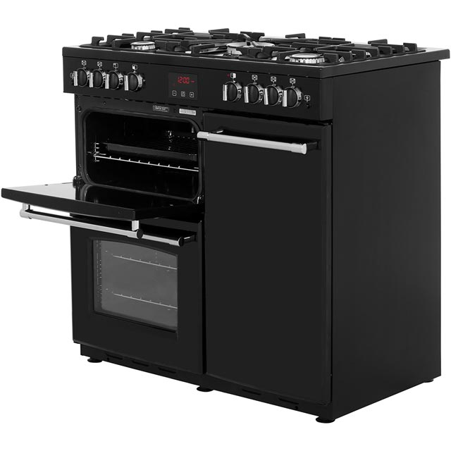 Belling Farmhouse90G 90cm Gas Range Cooker - Black - Farmhouse90G_BK - 2
