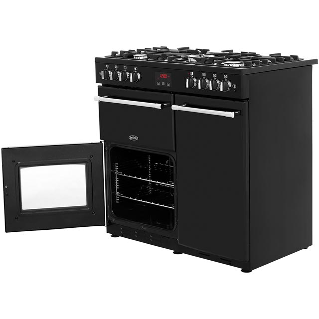 Belling Farmhouse90G 90cm Gas Range Cooker - Black - Farmhouse90G_BK - 3