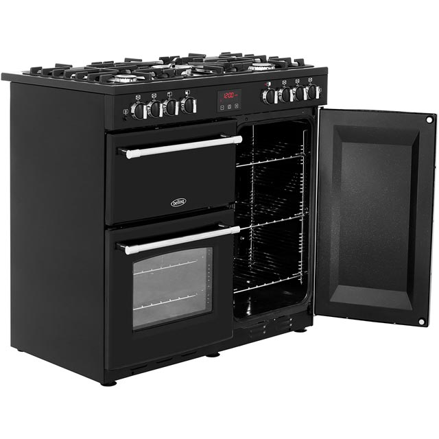 Belling Farmhouse90G 90cm Gas Range Cooker - Black - Farmhouse90G_BK - 4