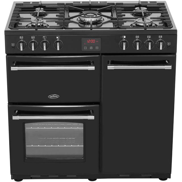 Belling Farmhouse90G 90cm Gas Range Cooker - Black - Farmhouse90G_BK - 5
