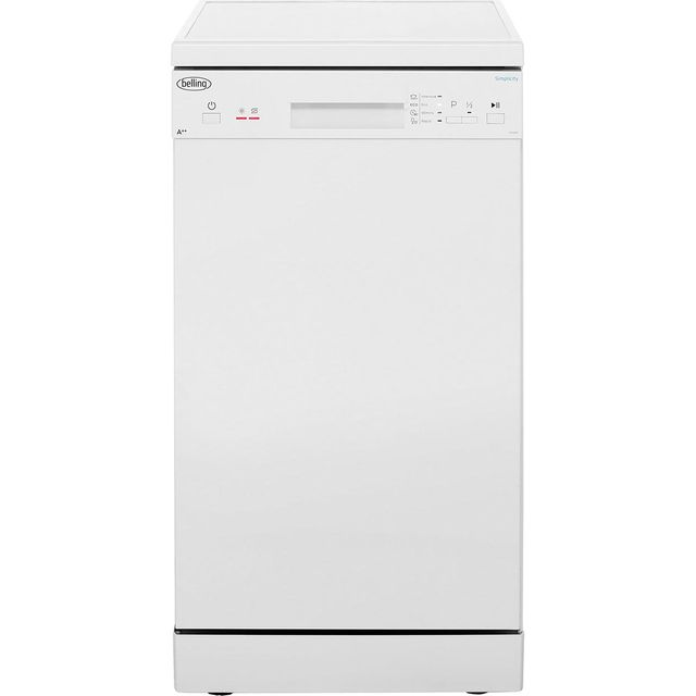 Belling Simplicity FDW90 Slimline Dishwasher - White - A++ Rated