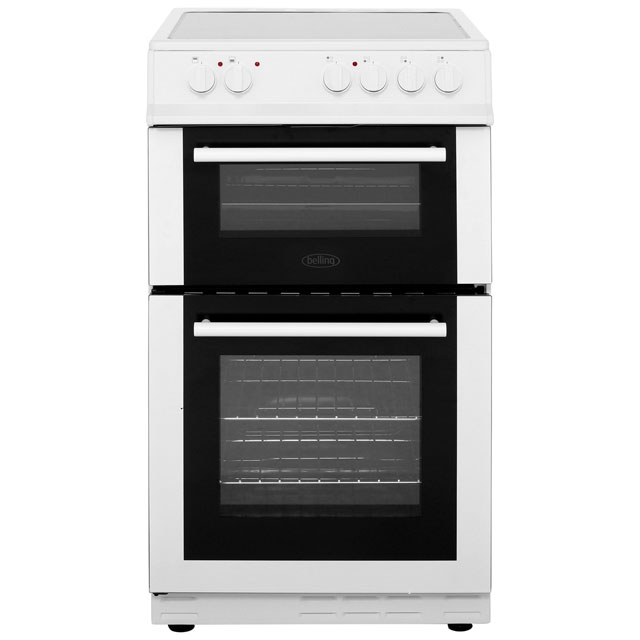 Belling Electric Cooker with Ceramic Hob - White