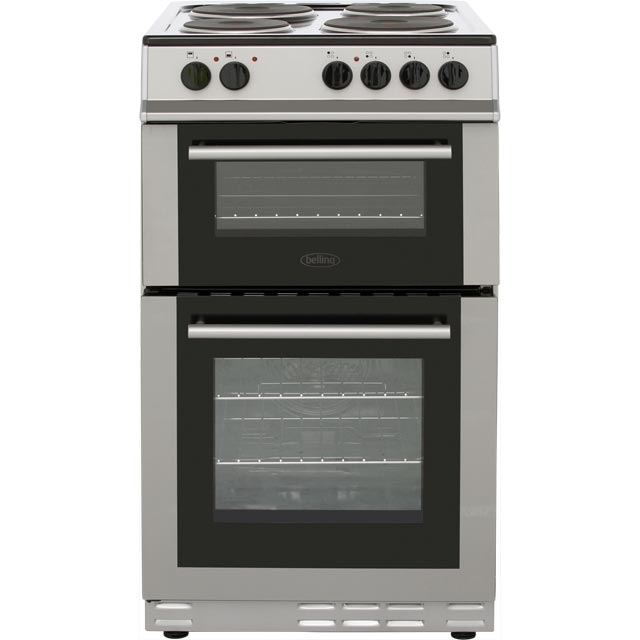 Belling FS50EFDO Electric Cooker with Solid Plate Hob - Silver