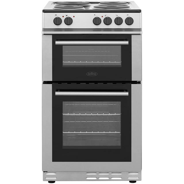Belling FS50ET 50cm Electric Cooker with Solid Plate Hob - Silver - FS50ET_SI - 1