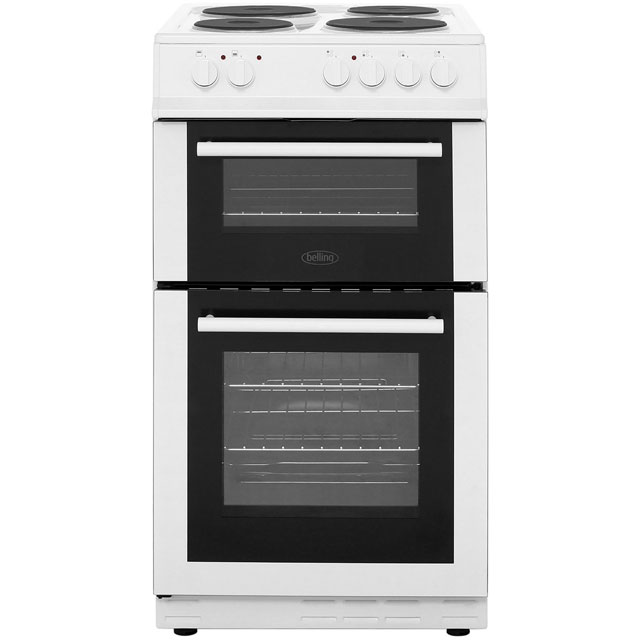 Belling Electric Cooker with Solid Plate Hob - White