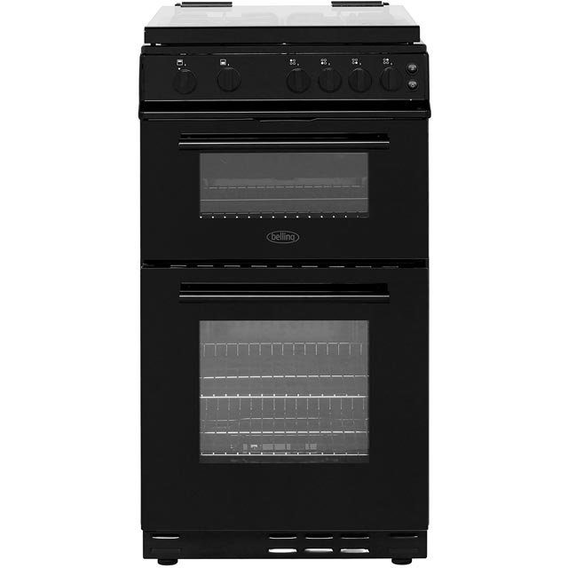 Belling FS50GTCL Gas Cooker with Full Width Gas Grill - Black - A Rated