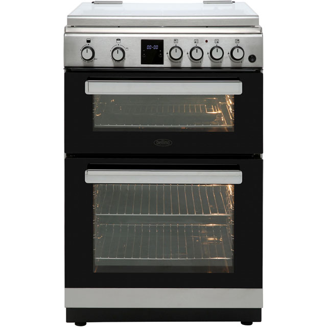 Belling FSG608TCW Gas Cooker - Stainless Steel - FSG608TCW_SS - 1