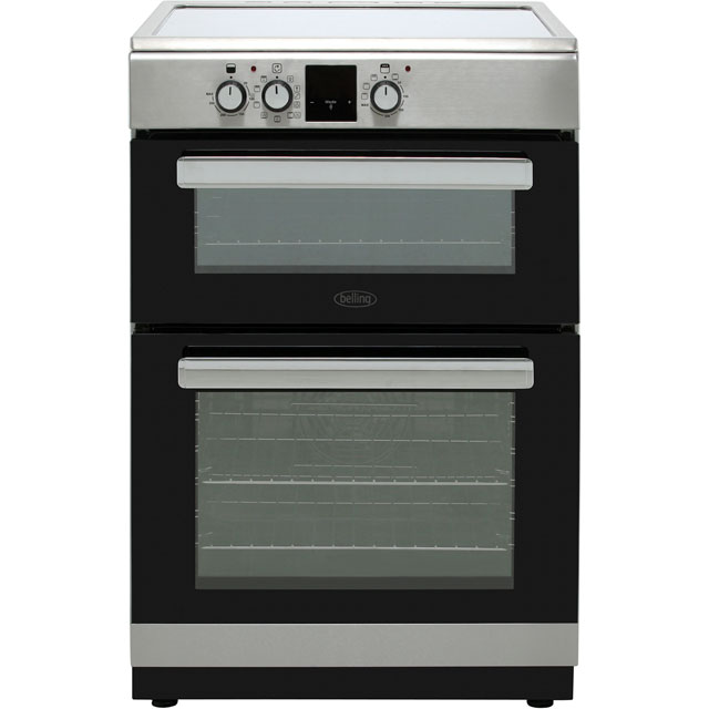 Belling 60cm Electric Cooker with Induction Hob - Stainless Steel - A/A Rated
