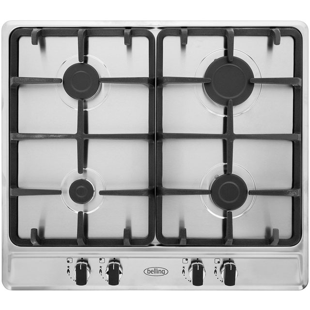 Belling GHU60GCMK2STA Built In Gas Hob - Stainless Steel - GHU60GCMK2STA_SS - 1