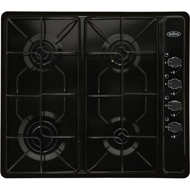 Belling GHU60GEMK2BLK Built In Gas Hob - Black - GHU60GEMK2BLK_BK - 1