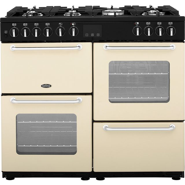 Belling 100cm Dual Fuel Range Cooker - Cream - A/A Rated