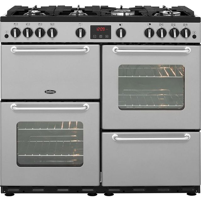 Belling SANDRINGHAM100LPG A/A Rated LPG Range Cooker in Silver