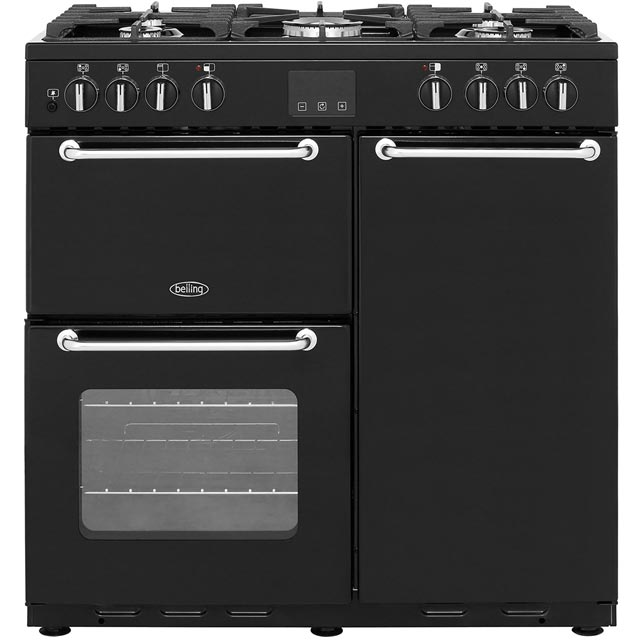Belling SANDRINGHAM90DFT 90cm Dual Fuel Range Cooker - Black - A/A Rated