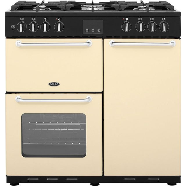 Belling 90cm Dual Fuel Range Cooker - Cream - A/A Rated