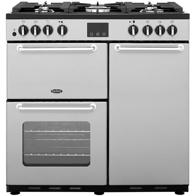 Belling 90cm Dual Fuel Range Cooker - Silver - A/A Rated