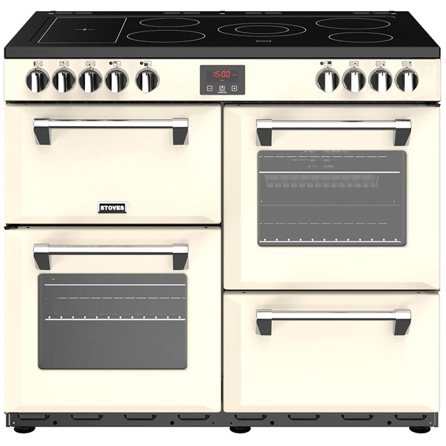Stoves Belmont 100E 100cm Electric Range Cooker with Ceramic Hob - Cream - A/A/A Rated - Belmont 100E_CR - 1