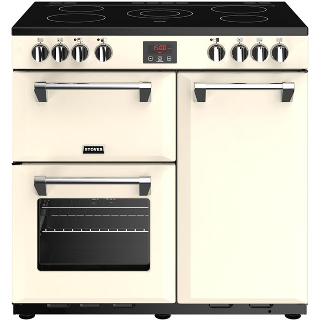 Stoves Belmont 90E 90cm Electric Range Cooker with Ceramic Hob - Cream - A/A/A Rated - Belmont 90E_CR - 1
