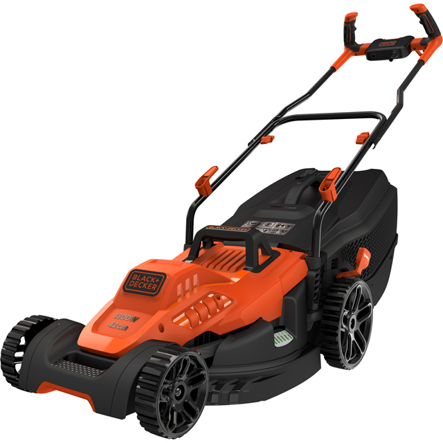 Black + Decker BEMW481BH-GB Lawnmowers in Black / Orange
