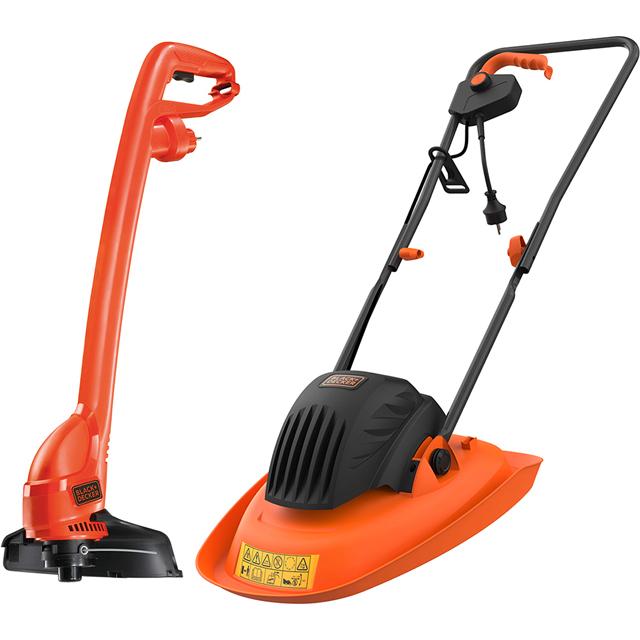 Image of Black + Decker BEMWH551GL2-GB Hover Lawnmower Including Grass Trimmer