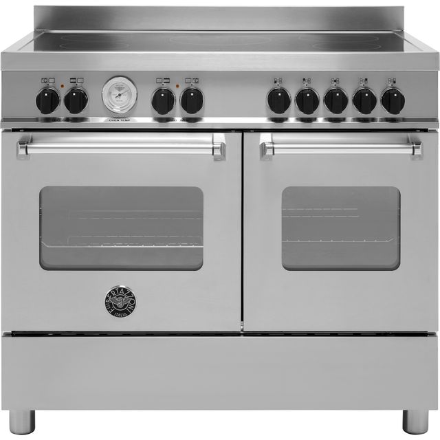 Bertazzoni Master Series MAS100-5I-MFE-D-XE 100cm Electric Range Cooker with Induction Hob - Stainless Steel - A/A Rated - MAS100-5I-MFE-D-XE_SS - 1