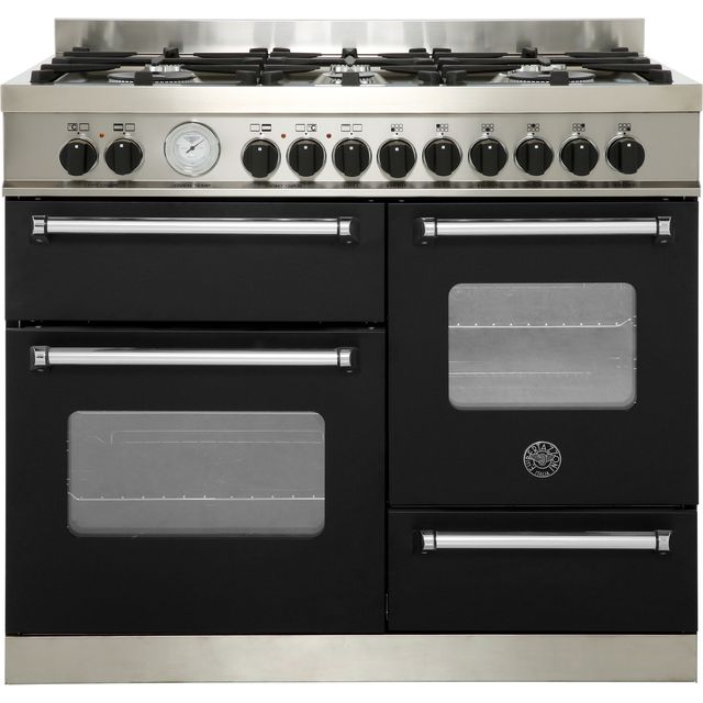 Bertazzoni Master Series 100cm Dual Fuel Range Cooker - Matt Black - A/A Rated