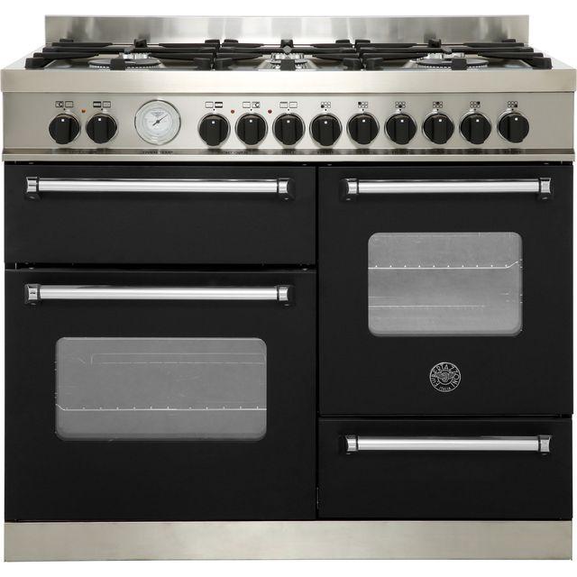 Bertazzoni Master Series MAS100-6-MFE-T-NEE 100cm Dual Fuel Range Cooker - Matte Black - A/A Rated