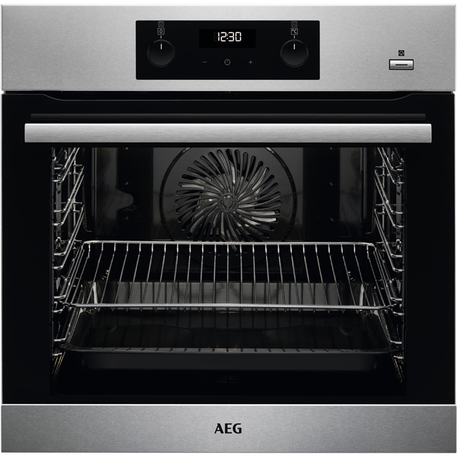 AEG BES355010M Built In Electric Single Oven with added Steam Function - Stainless Steel - BES355010M_SS - 1