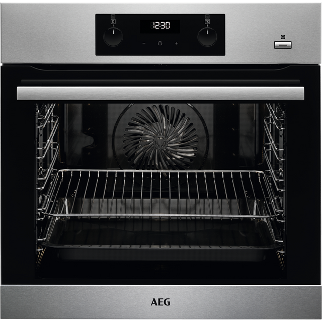 AEG BES355010M Built In Electric Single Oven with added Steam Function - Stainless Steel - A+ Rated - BES355010M_SS - 1