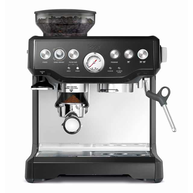 Sage By Heston Blumenthal The Barista Express BES870BSUK Espresso Coffee Machine with Integrated Burr Grinder - Black