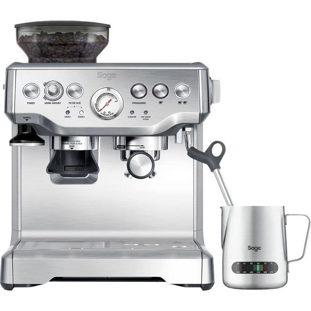 Sage The Barista Express BES875UK Espresso Coffee Machine - Brushed Steel - BES875UK_BSS - 1