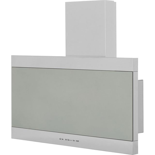 Image of BEST Latina HOOD-BE-LA-90-SS 90 cm Angled Chimney Cooker Hood - Stainless Steel - C Rated