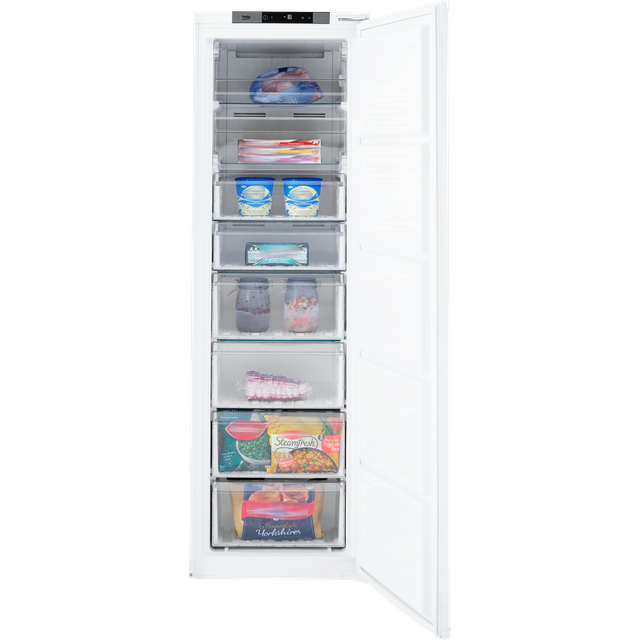 Beko BFFD3577 Integrated Frost Free Upright Freezer with Sliding Door Fixing Kit - A+ Rated