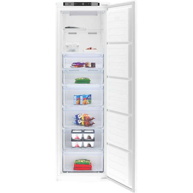 Beko BFFD3577 Integrated Frost Free Upright Freezer with Sliding Door Fixing Kit