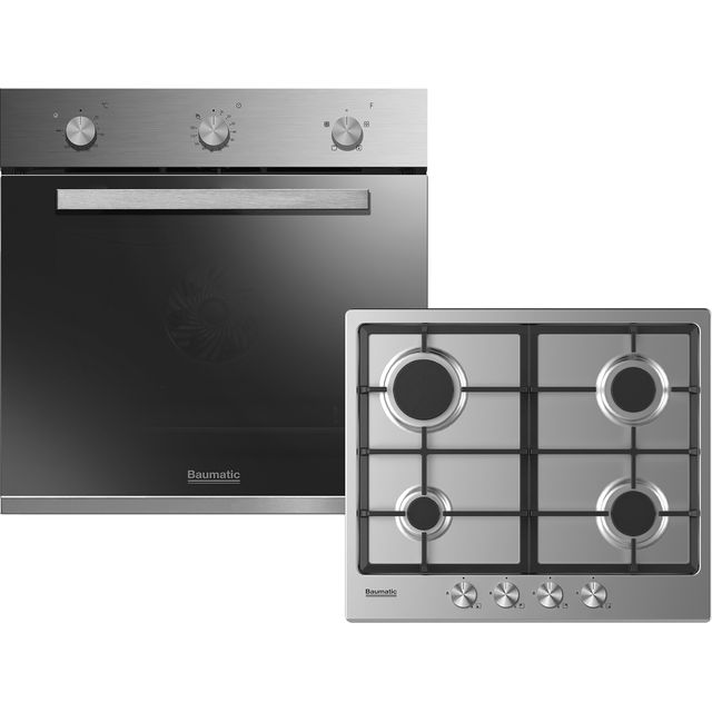 Baumatic BGPK600X Built In Single Ovens & Gas Hobs - Stainless Steel - BGPK600X_SS - 1
