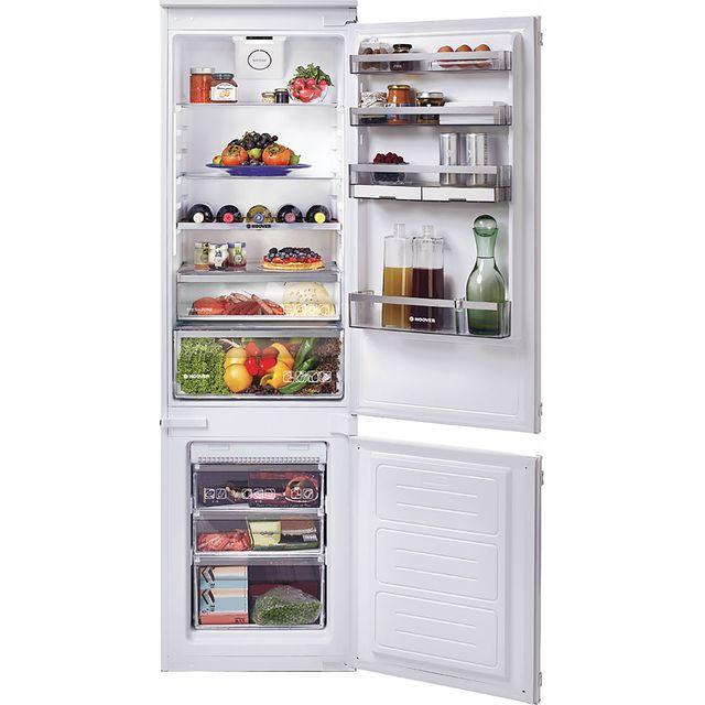 Hoover BHBF182NUK Integrated 70/30 Frost Free Fridge Freezer with Sliding Door Fixing Kit - White - A+ Rated - BHBF182NUK_WH - 1